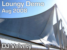 DJ Velvety - Loungy Demo Aug 2008 CD Cover